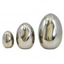 Ceramic egg college, height 10cm, diameter 7cm